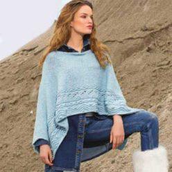 Вязание для женщин пончо спицами из альпаки