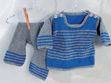 Вязание для малышей. Детский комплект спицами