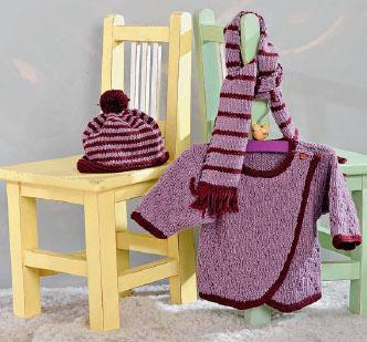 Вязание для малышей ПУЛОВЕР, ШАРФ И ШАПОЧКА СПИЦАМИ