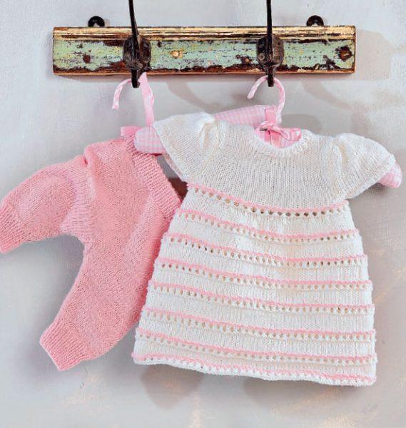 Вязание для малышей ПЛАТЬЕ И ШТАНИШКИ СПИЦАМИ