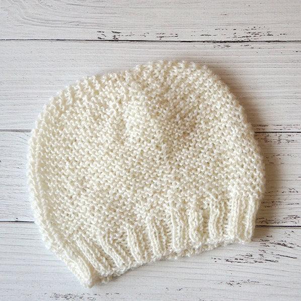 Вязание для малышей, детская шапочка спицами + видео как связать