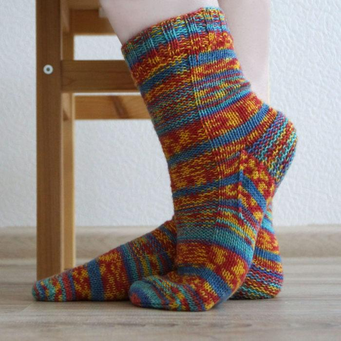 Классические носки спицами, мастер класс + видео как связать