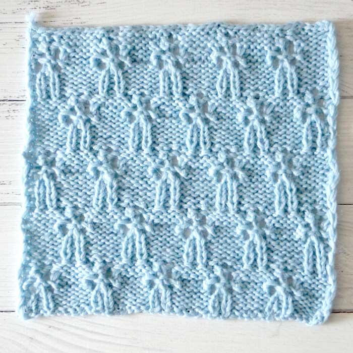 Милый ажурный узор спицам для платья, пуловера, шарфа
