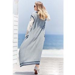 Вязание для женщин. Длинный жилет спицами