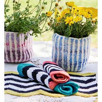 Вязание для дома. Салфетки и кашпо крючком