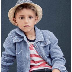 Вязание для детей. Куртка спицами для мальчика