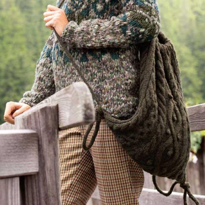 Вязание для женщин. Рюкзак спицами