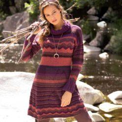 Вязание для женщин. Платье спицами в полоску