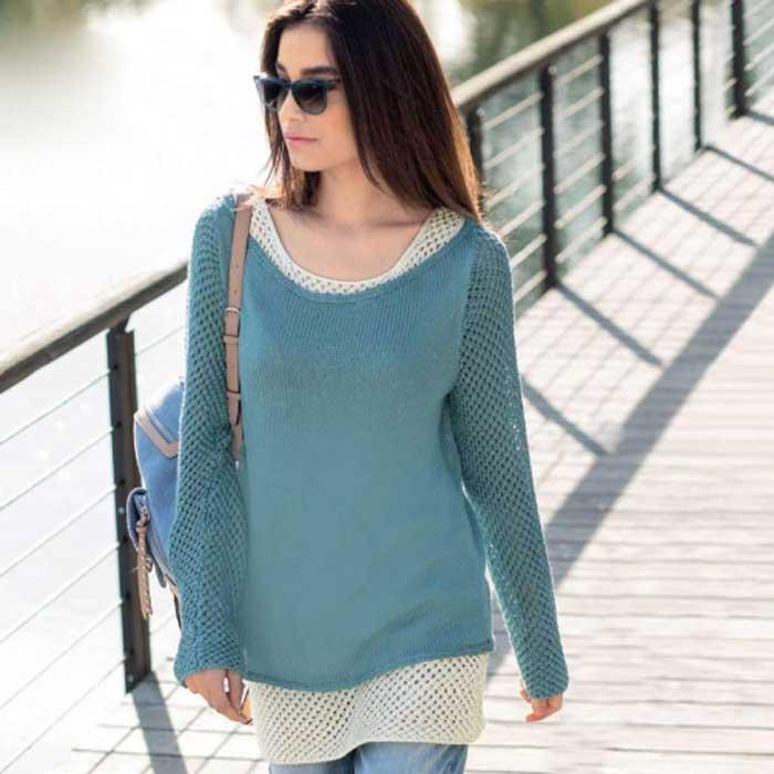 Вязание для женщин. Ажурный топ и пуловер спицами