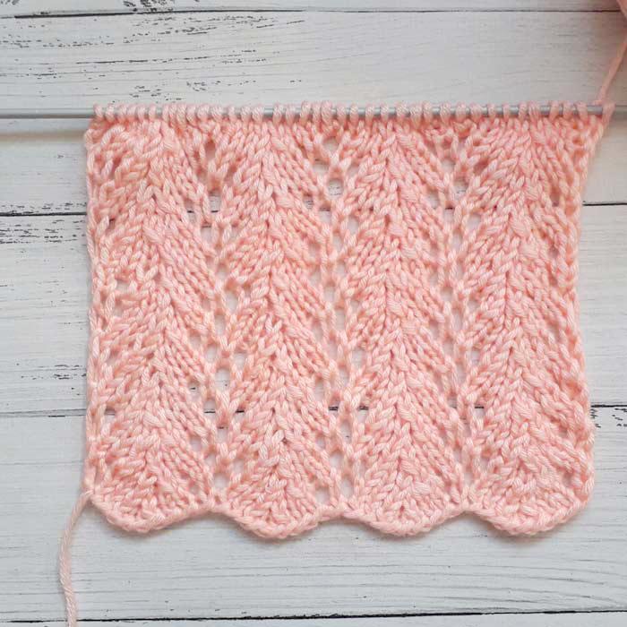 Ажурный узор спицами для пуловера, схема