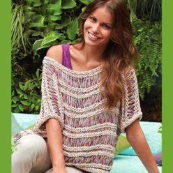 Вязание для женщин. Пуловер спицами с фантазийным узором