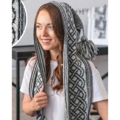 Вязание для женщин. Башлык (капюшон) спицами с орнаментом