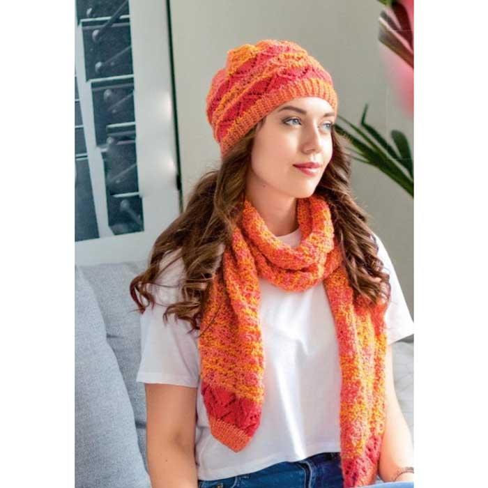 Вязание для женщин. Шапка спицами и шарф спицами