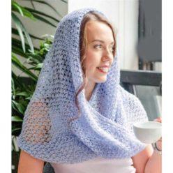 Вязание для женщин. Нежно-голубой снуд спицами