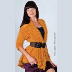 Вязание для женщин. Жакет спицами из ангоры.