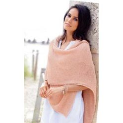 Вязание для женщин, НАКИДКА-ПОНЧО С КАПЮШОНОМ
