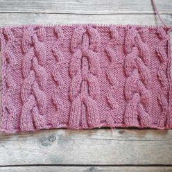 Красивый узор для шарфа, снуда, схема узора