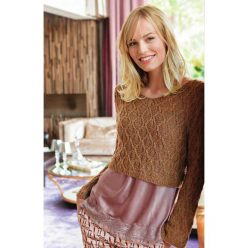 Вязание для женщин. Короткий пуловер спицами