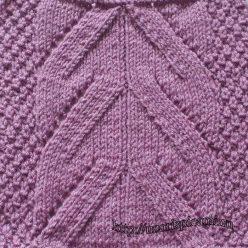 Красивый простой ажурный узор спицами, схема узора
