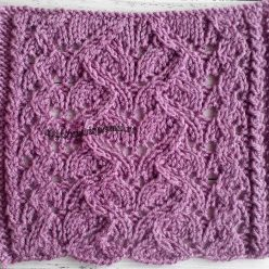 Красивый ажурный узор спицами для пуловера, свитера, схема узора
