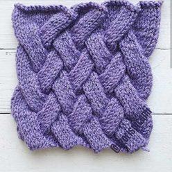 Красивый плетенный узор спицами для шапки, варежек, схема узора