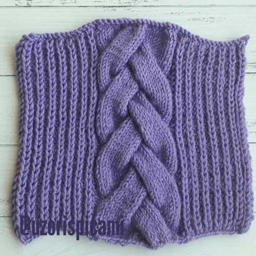 Красивая коса спицами для пуловера, схема узора + видео как связать