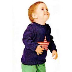 Вязание для малышей. Пуловер спицами для мальчика