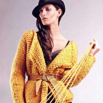 Вязание для женщин. Жакет спицами крупной вязки
