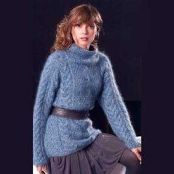 Вязание для женщин. Красивый нежный пуловер спицами