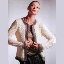 Вязание для женщин. Классический жакет спицами