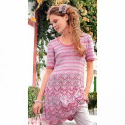 Вязание для женщин. Полосатое платье спицами