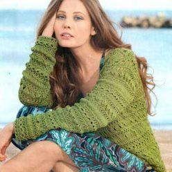 Вязание для женщин. Узорчатый жакет спицами