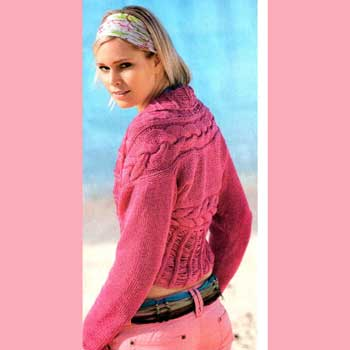 Вязание для женщин. Жакет болеро спицами