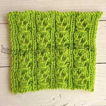 Простой ажурный узор для шарфа, палантина, схема узора