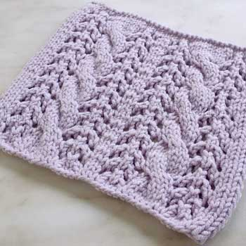 Красивый узор  с косами спицами для пуловера, схема узора
