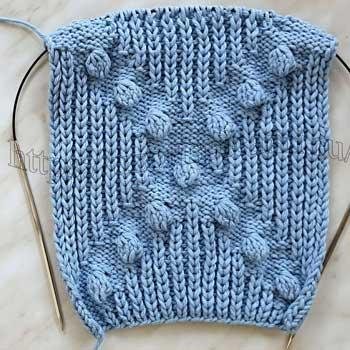 Объемный красивый узор спицами для пуловера, схема узора