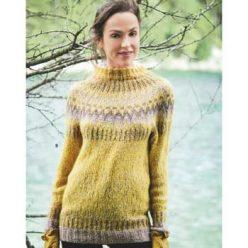 Вязание для женщин. Пуловер спицами с жаккардовой кокеткой