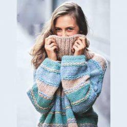 Вязание для женщин. Пуловер спицами оверсайз в пастельных тонах