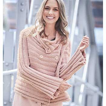 Вязание для женщин. Жакет спицами с поперечной резинкой