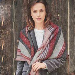 Вязание для женщин. Асимметричный платок спицами