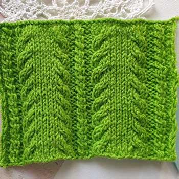 Красивый узор спицами для пуловера, свитера, шарфа, схема узора
