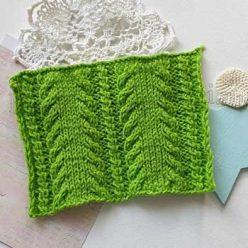 Красивый узор спицами для пуловера, свитера, шарфа, схема узора + видео как связать