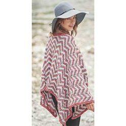 Вязание для женщин. Пончо спицами в полоску