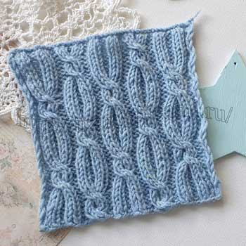 Красивый узор спицами для свитера, пуловера, шапки, схема узора