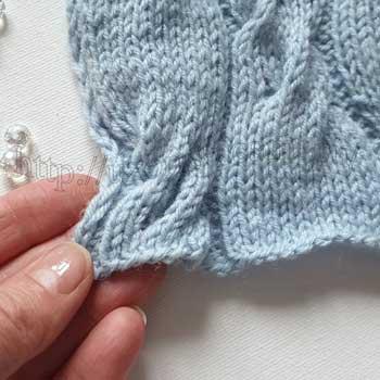 Красивый узор для шапки, схема узора