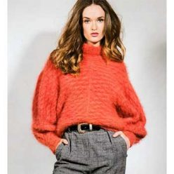 Вязание для женщин. Объемный пуловер спицами