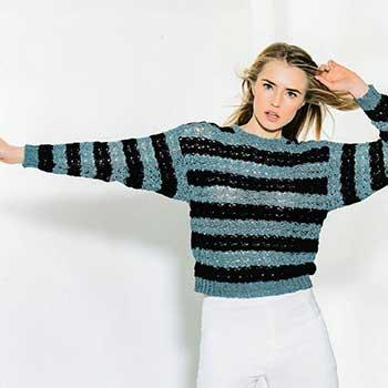 Вязание для женщин. Ажурный пуловер крючком