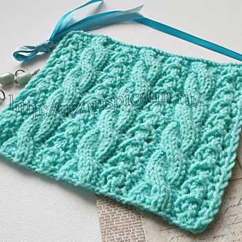 Красивый узор коса для пуловера, джемпера, схема узора