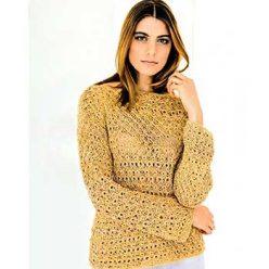 Вязание для женщин. Ажурный пуловер спицами