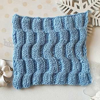 Красивый двусторонний узор спицами для шарфа, схема узора